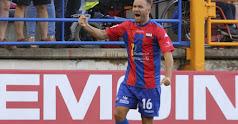 Diego Capel celebrando un gol con el Extremadura.