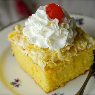 Easy Pina Colada Pudding Cake.