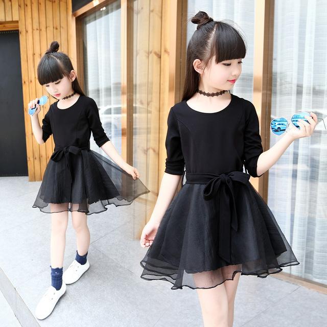 Sukienki dla dziewczynek czarne