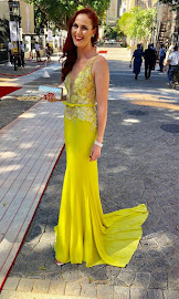 DA MP Terri Stander took the plunge in a yellow gown with a train for the state of the nation address in parliament in Cape Town on February 7 2019.