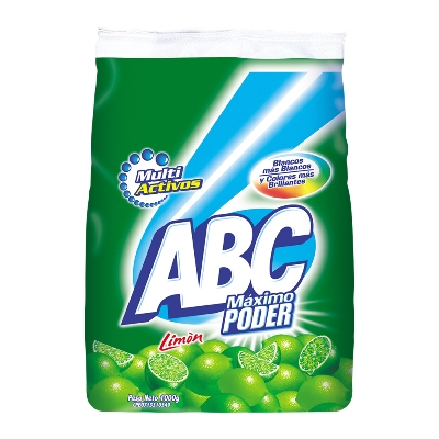 Detergente En Polvo Abc Limon 1Kg