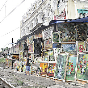 Rail and painting by Achmad Bachtiar - Artistic Objects Other Objects ( bogor, indonesia, art, rail, painting )