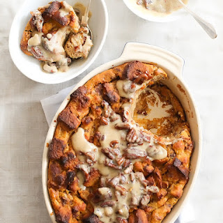 Pumpkin Bread Pudding with Whiskey Cream Sauce