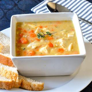 Leftover Chicken Lentil Soup.