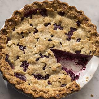 Concord Grape and Pear Pie
