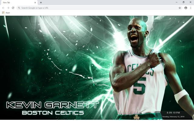 Kevin Garnett NBA New Tab