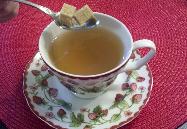 Raw sugar in cube form is a favorite at our teas.