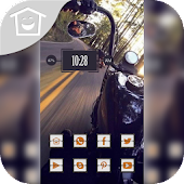 Fast road motorcycle theme