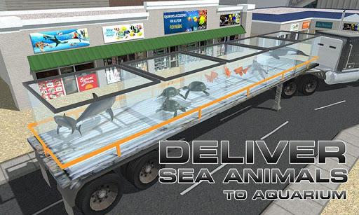 轉運卡車海洋動物