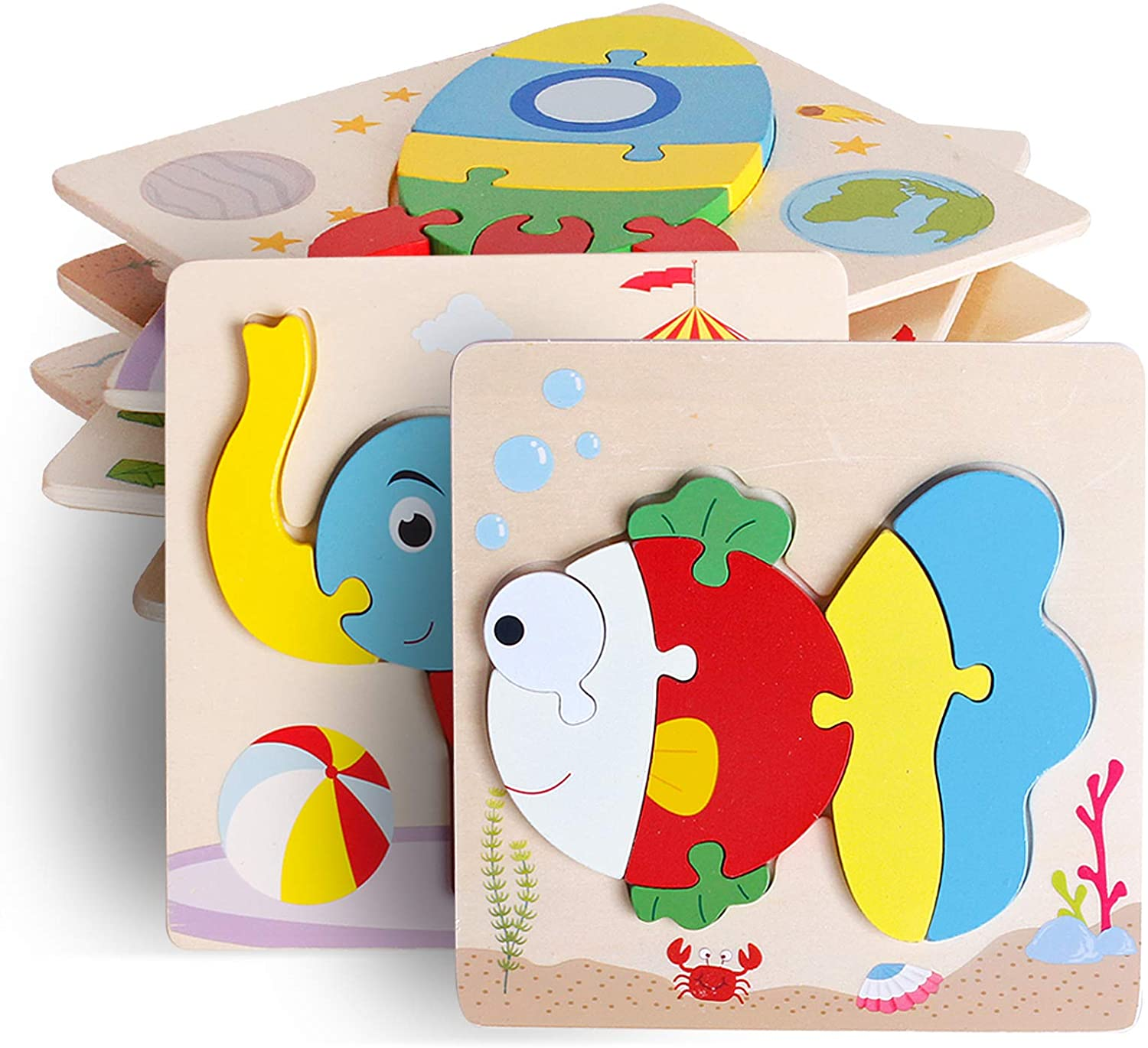 animal wooden puzzle for children