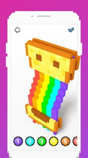 Voxel - 3D Color by Number & Pixel Coloring Book- screenshot thumbnail