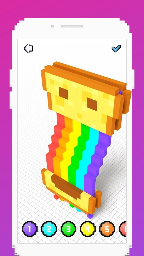 Voxel - 3D Color by Number & Pixel Coloring Book- screenshot