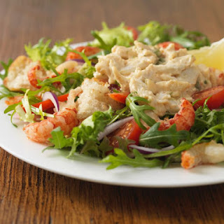 Crab and Crawfish Salad with Spicy Louis Dressing.