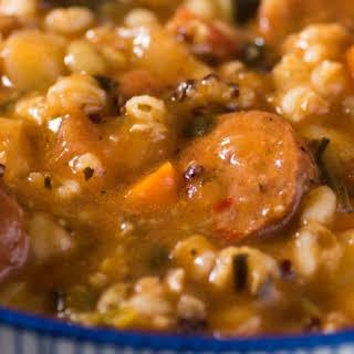 Sausage Barley Stew.