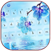 Blue orchid Keyboard theme