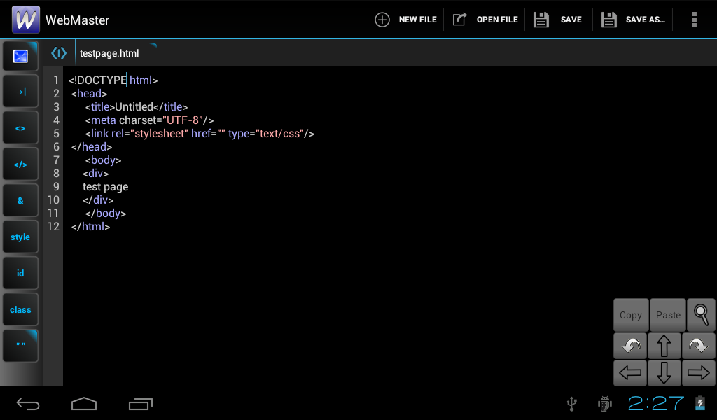 how to make html editor