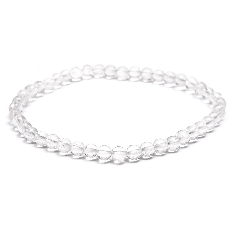 Bergkristall Edelstein-Armband Stretch Perlenarmband D275