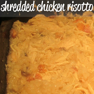 Slow Cooker Shredded Chicken Risotto