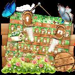 Green Forest Butterfly Keyboard