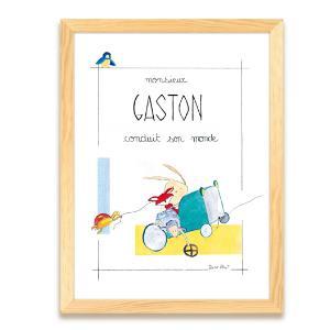 Affiche personnalisée - cadeau de naissance - Illustre Albert - Danseuse étoile - chambre d'enfant
