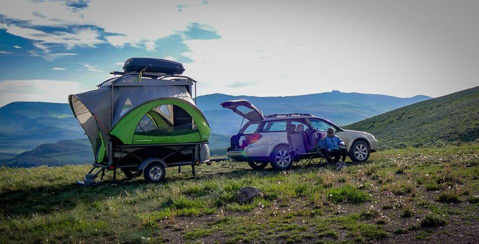 Sylvansport Go off road pup up for families