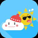 추벙더벙 (정확한 날씨, 귀여운 날씨, 기상청 날씨) icon
