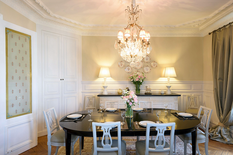 Dining space at Eiffel Tower apartment