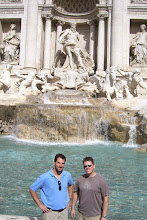 Photo: Chris and Curt at the Trevi Fountain in Rome, Italy