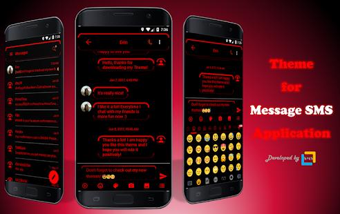 Neon Red SMS Zprávy - náhled