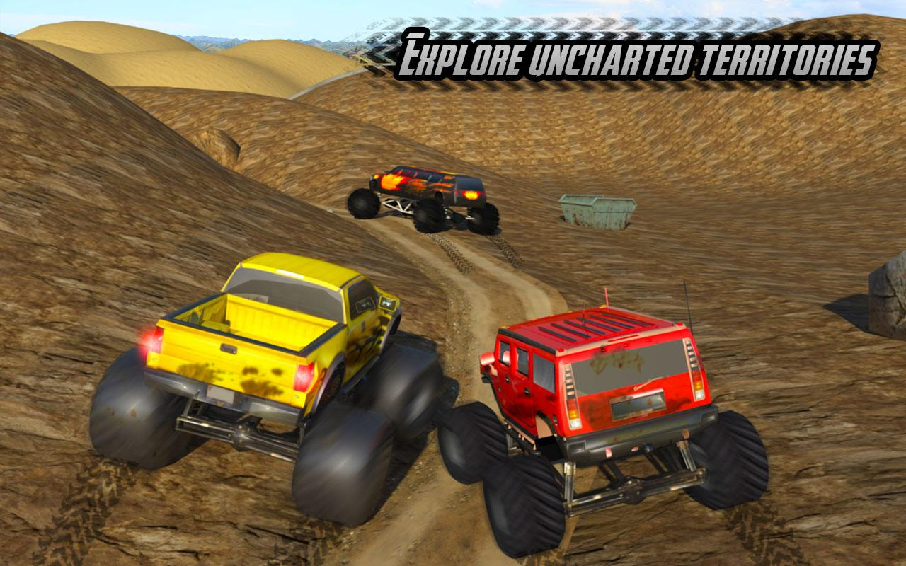 Big Monster Truck Rally Racing- 4x4 Up hill Climb - Android Apps ...