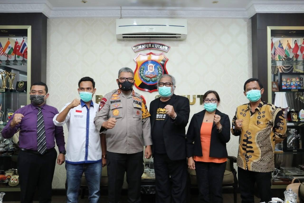 Kapolda Sumut terima audiensi dan silaturahmi dengan Komnas perlindungan anak indonesia
