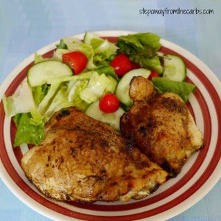 Baked Balsamic Chicken Thighs.