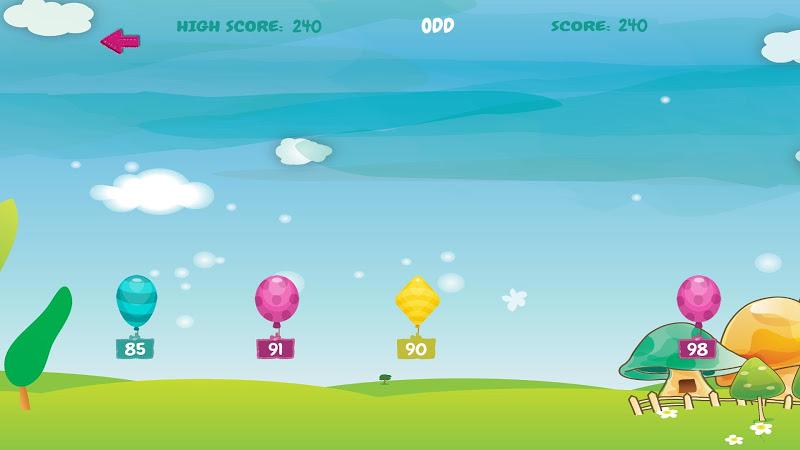 Скриншот Kids Fun Math Balloon Games