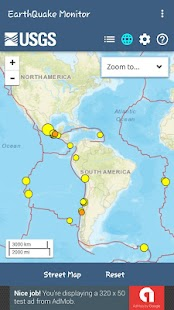 EarthQuake Monitor - náhled