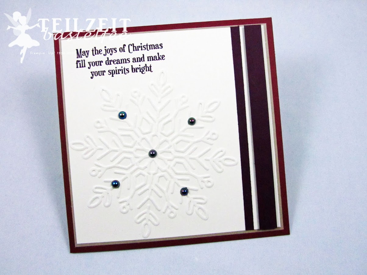 Stampin' Up! - Inkspire_me, Sketch and Color Challenge, Snowflake, Schneeflocke, Christmas Magic, Weihnachtskarte