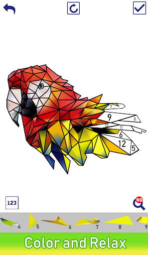 Animals Poly Art:Color by Number, Sticker Coloring - screenshot