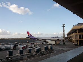 Photo: Arriving at the airport at HNL