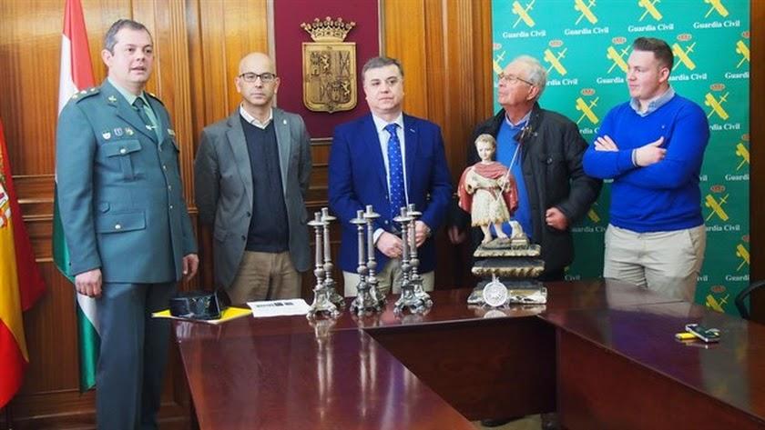 Recuperada en Alhama una talla del s. XVIII robada en Granada