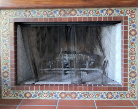 Photo: Malibu Tile Works - Fireplace Surround - Private Residence - Pacific Palisades, CA