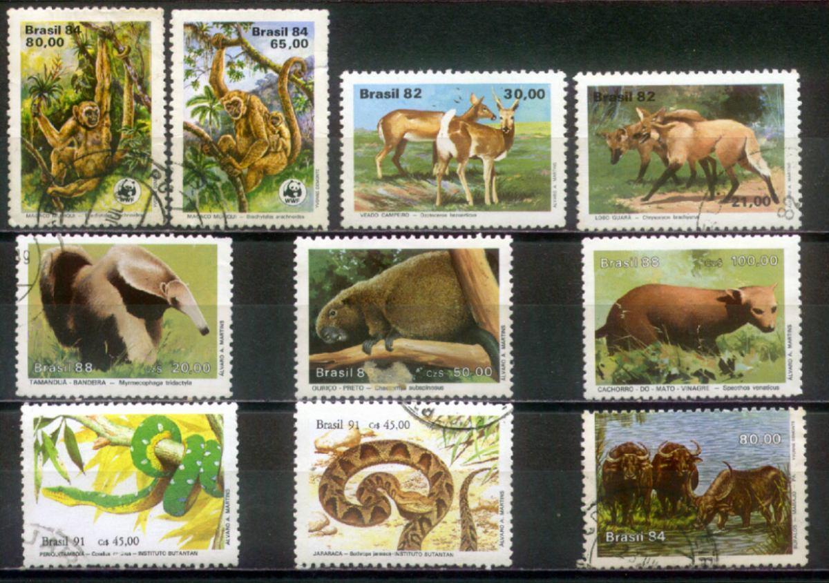 coleção dos selos brasileiros