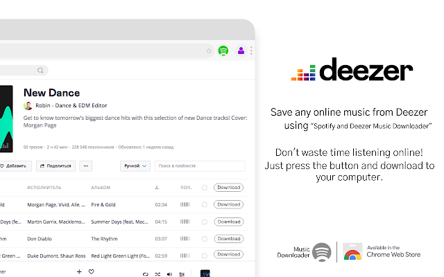 Spotify and Deezer Music Downloader