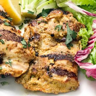 Ras El Hanout Grilled Chicken Thighs.