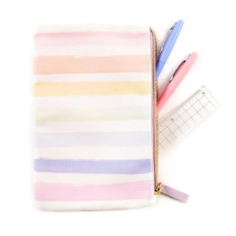 Me & My Big Ideas CLASSIC Banded Pouch - Pastel Rainbow