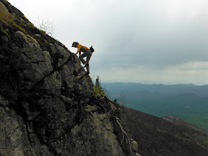 Photo: Iconic photo about 15' up the buttress. Thanks so much Christina!
