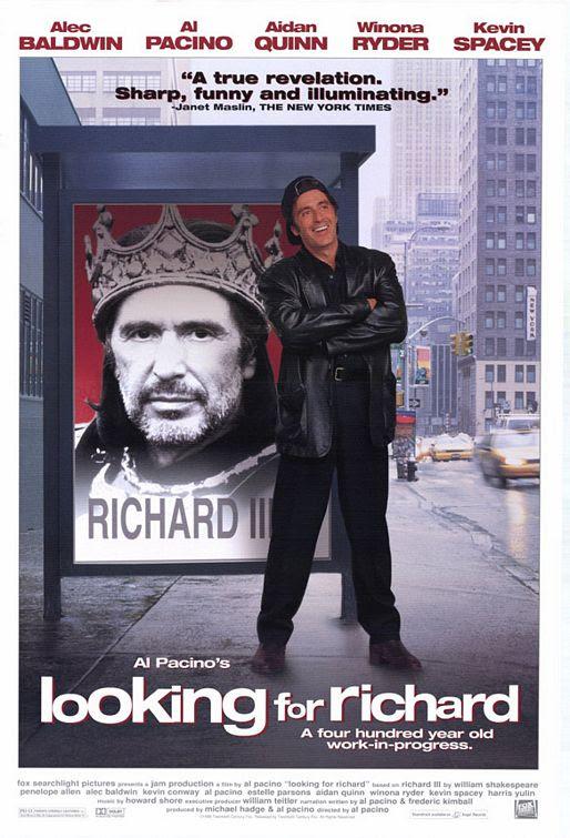 Resenha #23 - Ricardo III - Um Ensaio (Looking For Richard, 1996)