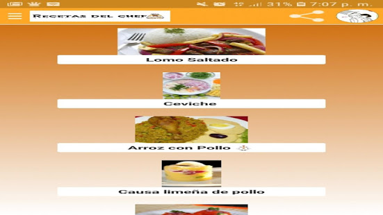Recetas del chef for PC-Windows 7,8,10 and Mac apk screenshot 10