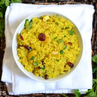 Rice Pilaf With Lime And Cashews.