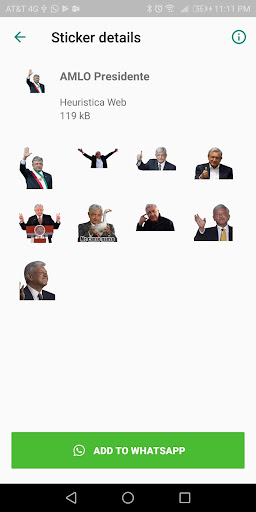 AMLO Stickers 1.0.9 screenshots 2