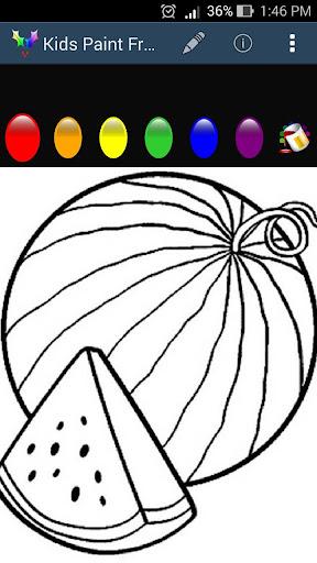 Kids Paint - Fruits