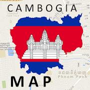 Cambodia Kratie Map
